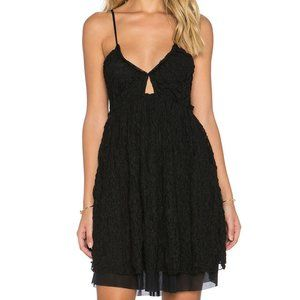 FREE PEOPLE Nicolette Embroidered Dress Black-XS,M